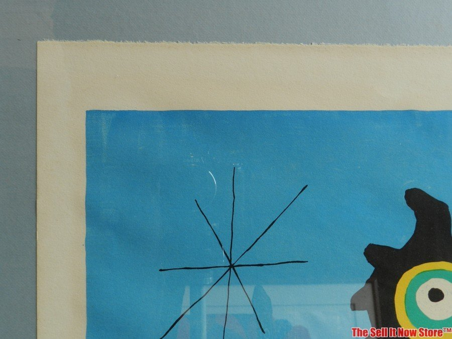 """Joan Miro """"Woman in Front of the Sun"""" Lithograph - 2"""