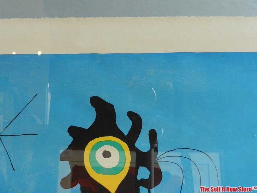 """Joan Miro """"Woman in Front of the Sun"""" Lithograph - 3"""