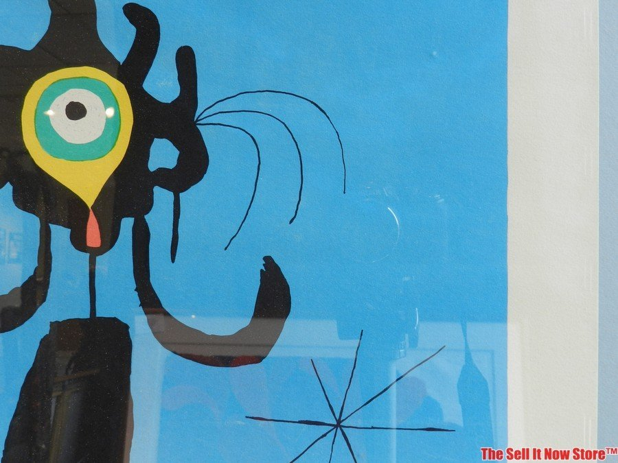"""Joan Miro """"Woman in Front of the Sun"""" Lithograph - 5"""