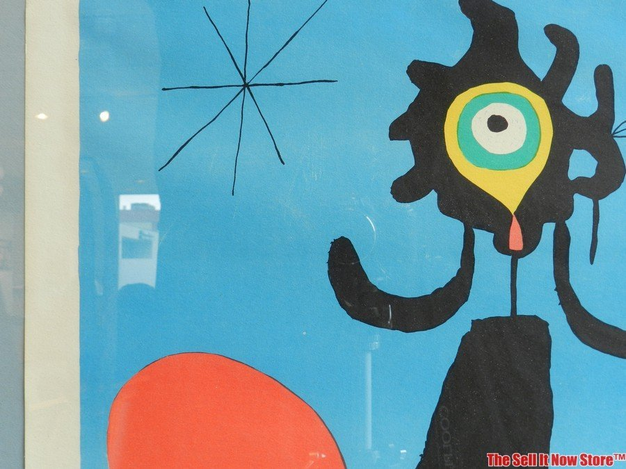 """Joan Miro """"Woman in Front of the Sun"""" Lithograph - 6"""