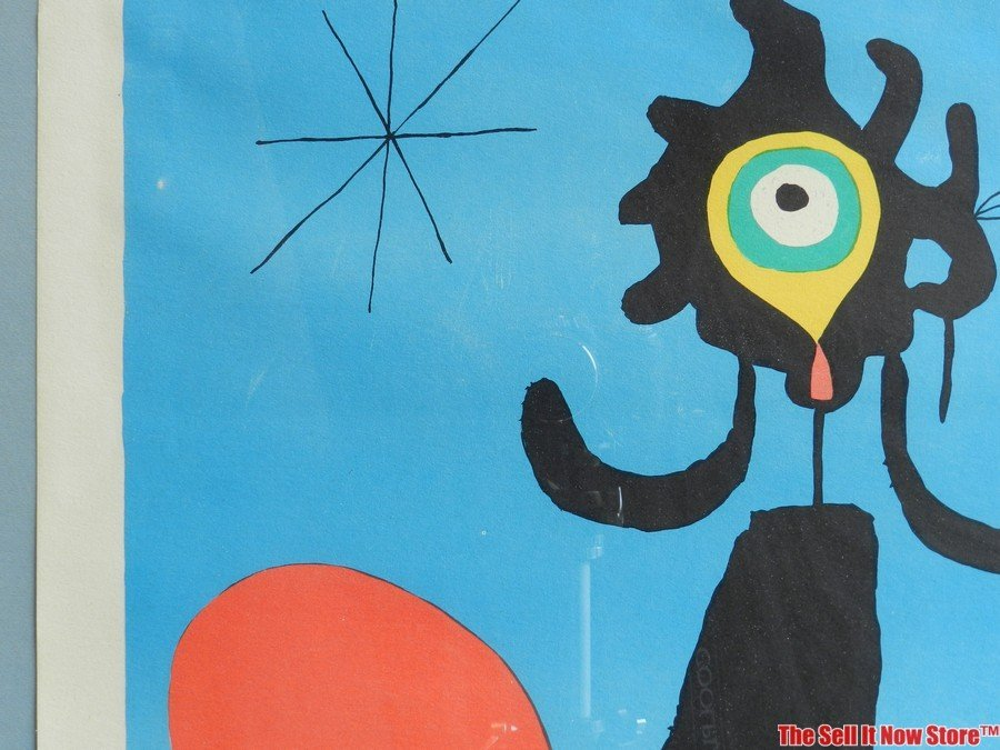 """Joan Miro """"Woman in Front of the Sun"""" Lithograph - 7"""