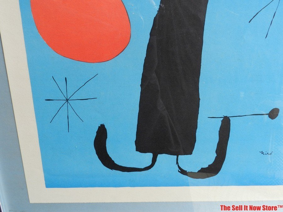 """Joan Miro """"Woman in Front of the Sun"""" Lithograph - 8"""