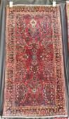"""Persian Sarouk 2'1"""" x 4'2"""" circa 1920 Rug"""