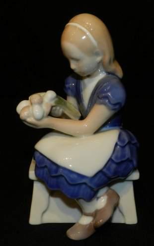 Bing and Grondahl Figurine 2298 Girl with Flowers
