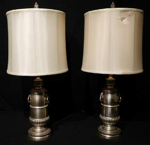 Pair of Stiffel Brass Table Lamps