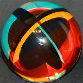 """#2735"" Acrylic Laminate Sphere Sculpture by Vasa Veliz"