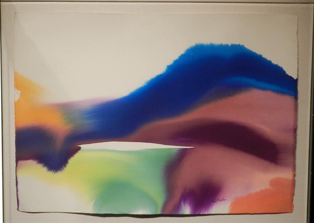 """Phenomena Indentation"" Watercolor by Paul Jenkins"