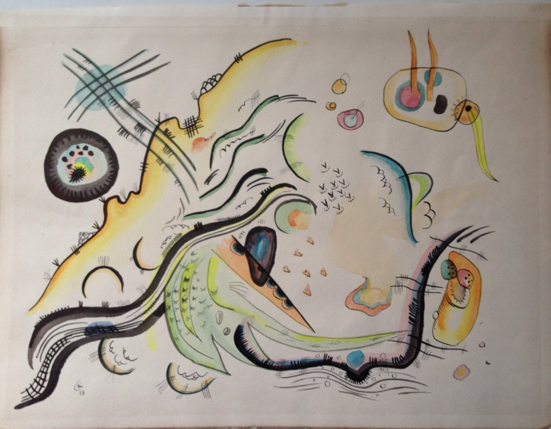 Wassily Kandinsky* attributed