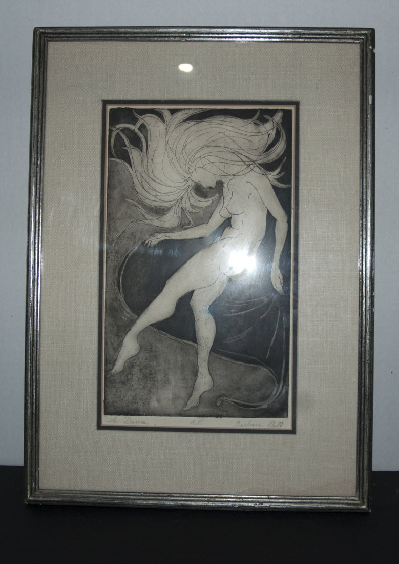 "Signed Painting By Barbara Bell ""La Danse"""