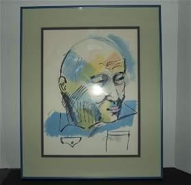 Cobelle - Watercolour Of A Head Of Man
