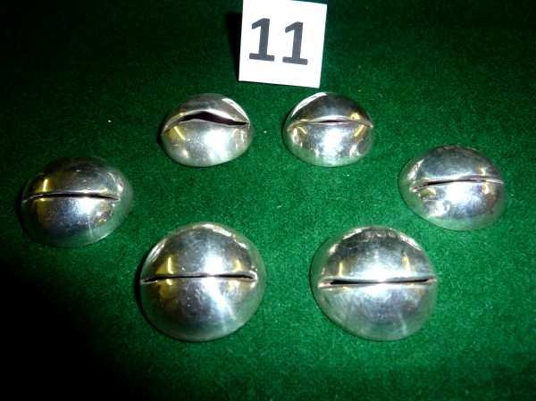 11: Set of six Birmingham silver hallmarked place name