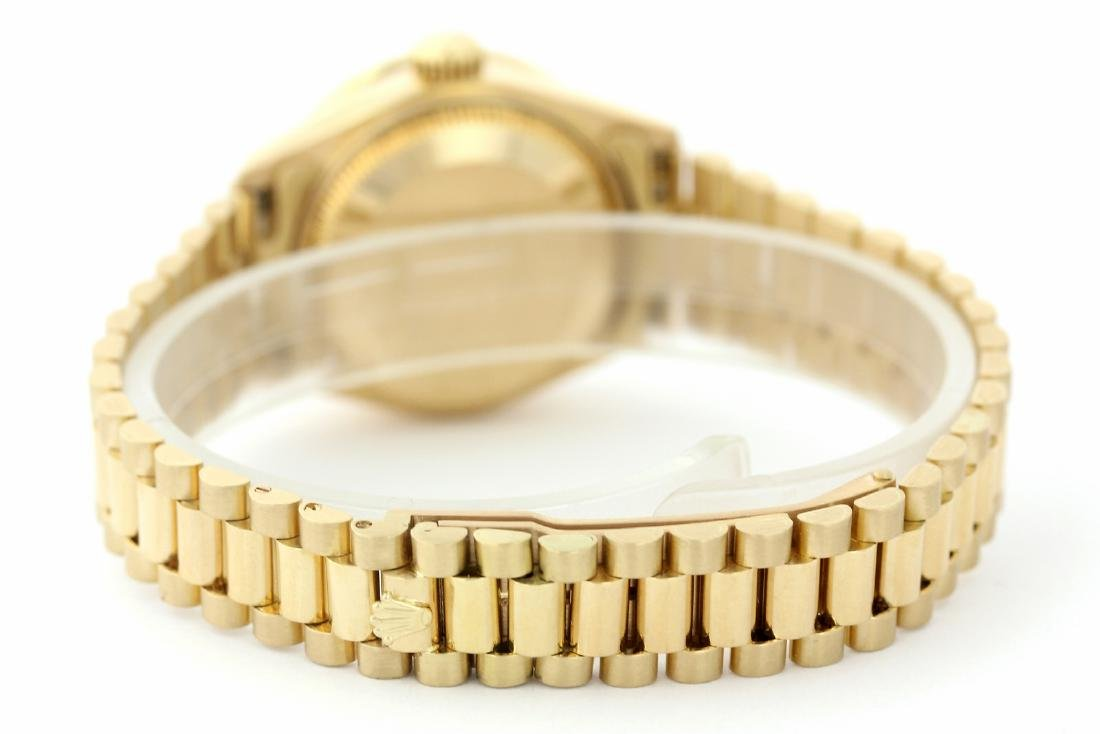 Rolex Pre-owned 26mm Womens String Champagne 18K Gold - - 2