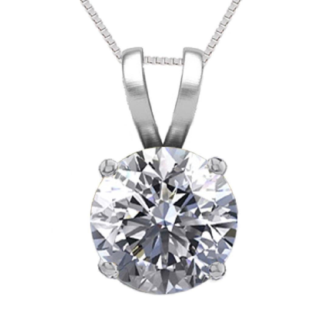 14K White Gold 1.05 ct Natural Diamond Solitaire