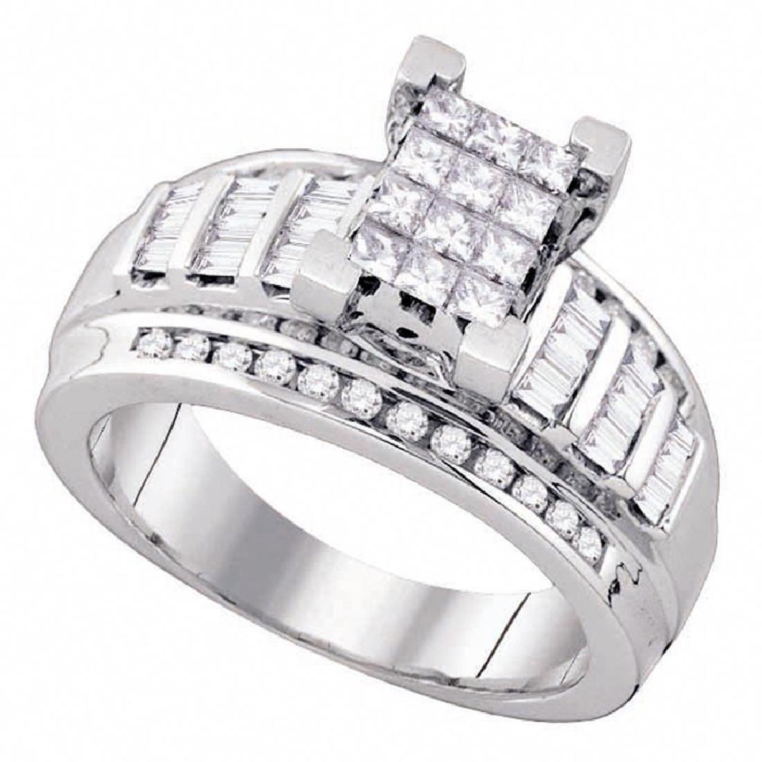 0.85 CTW Princess Diamond Cindy's Dream Cluster Bridal