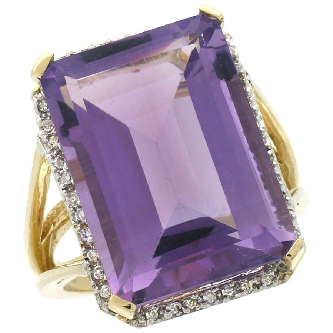 Natural 1506 ctw amethyst Diamond Engagement Ring