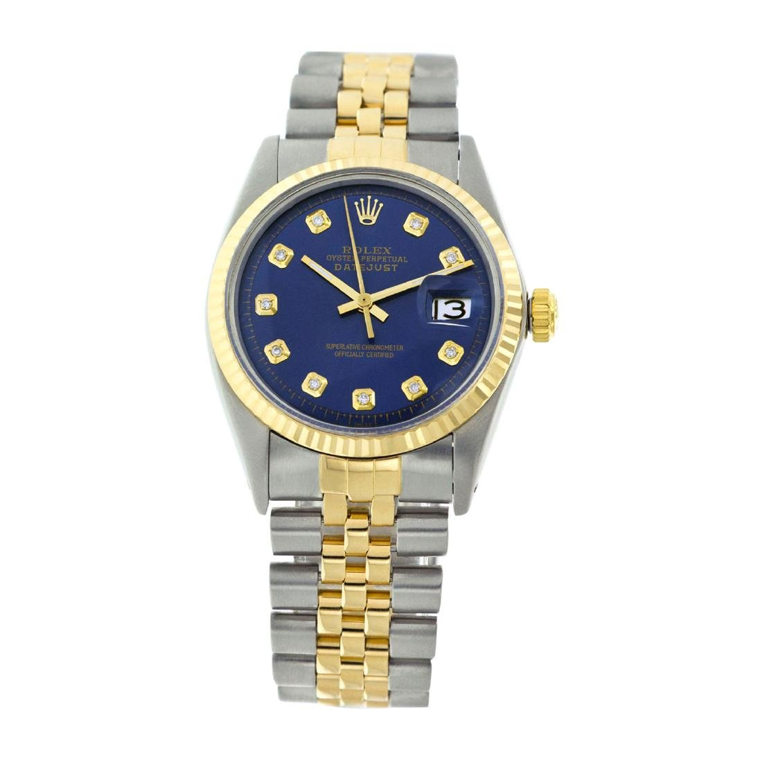 Rolex Pre-owned 36mm Mens Blue Two Tone - REF-490X2K