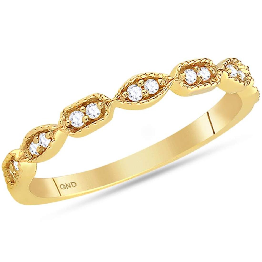 0.10 CTW Diamond Stackable Ring 14KT Yellow Gold -