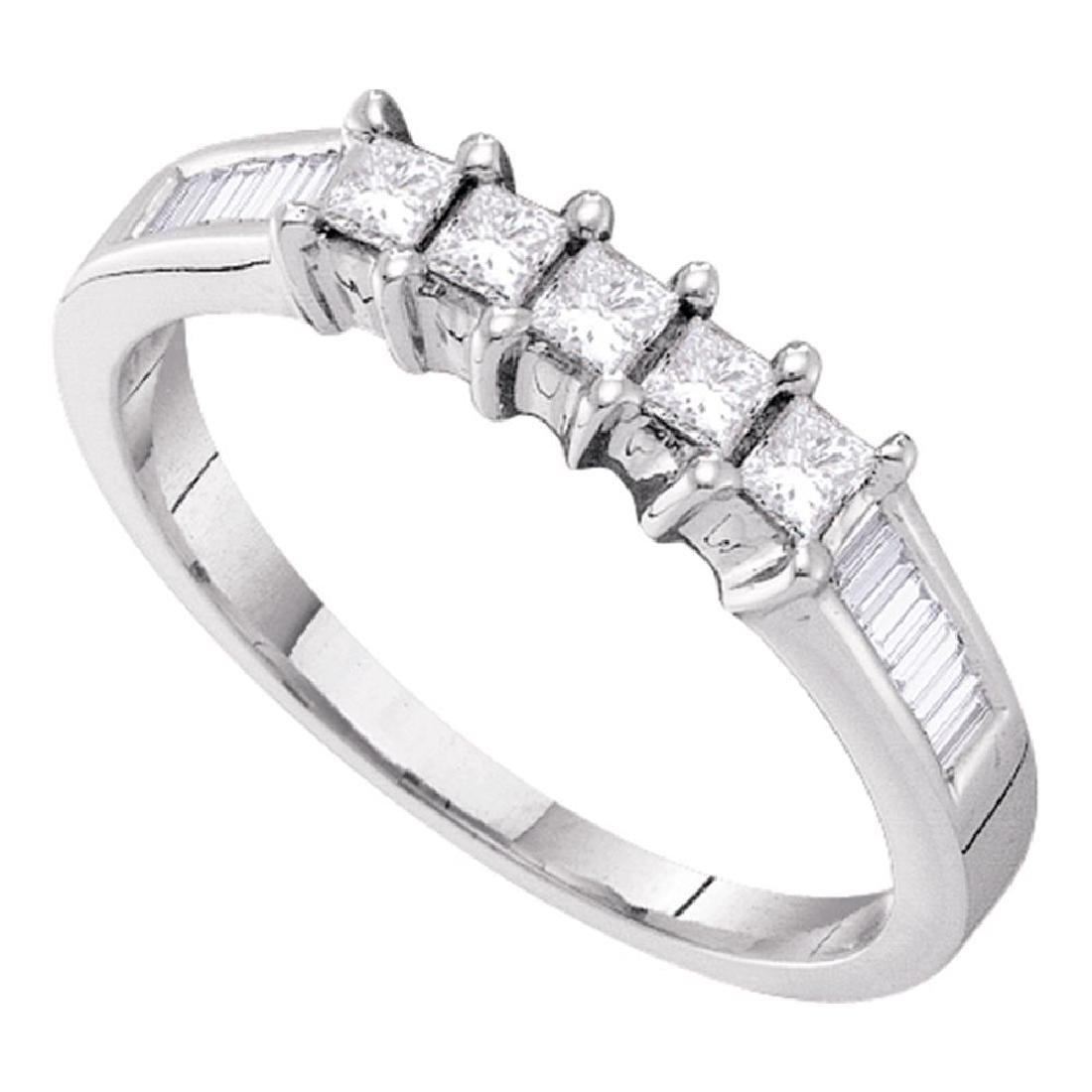 0.50 CTW 5-stone Princess Diamond Bridal Anniversary