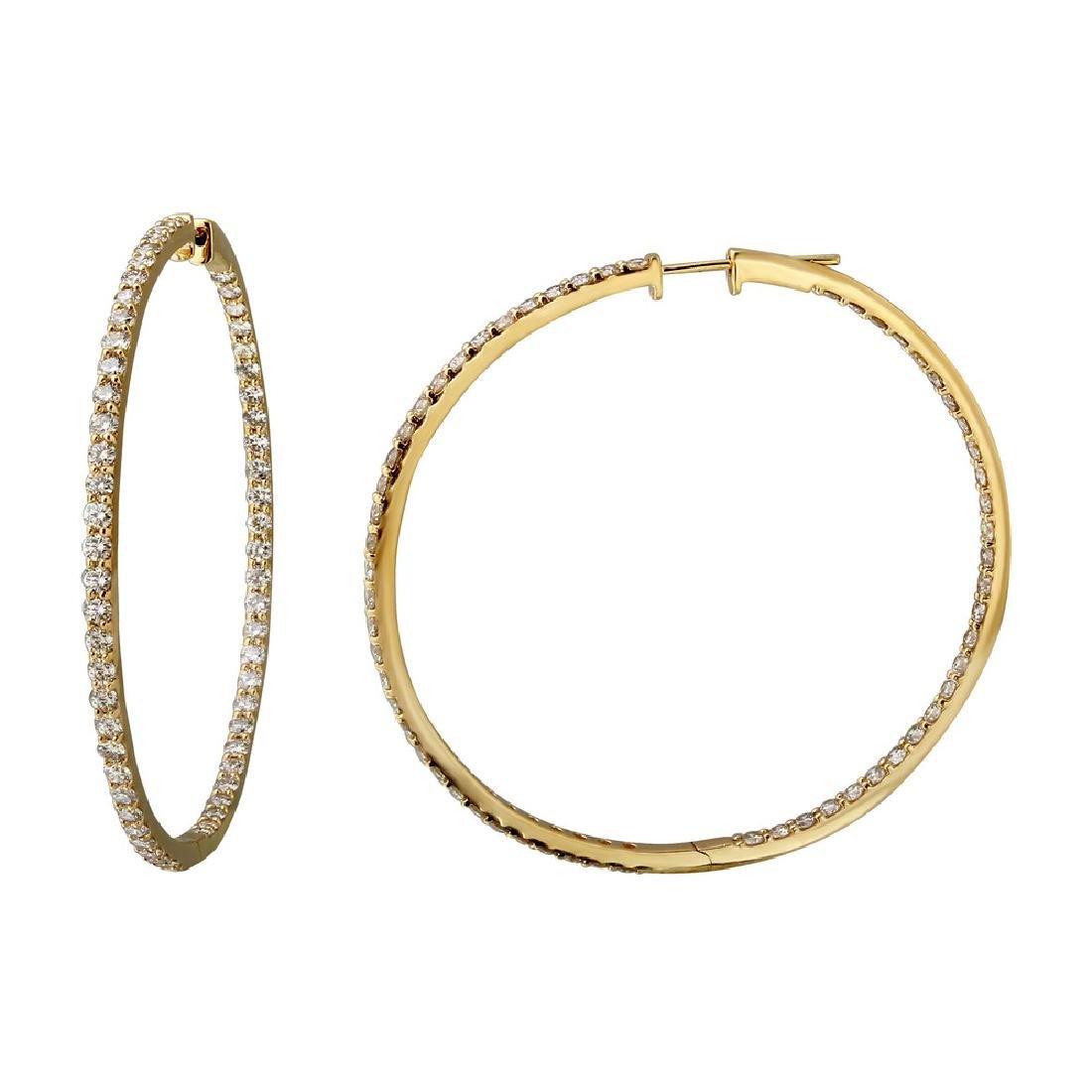 5.26 CTW Diamond Earrings 14K Yellow Gold - REF-339R2K