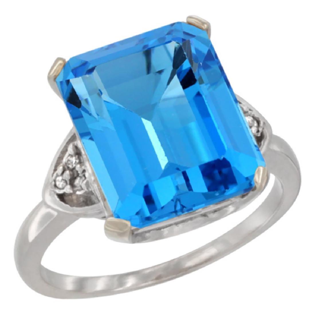Natural 5.44 ctw swiss-blue-topaz & Diamond Engagement