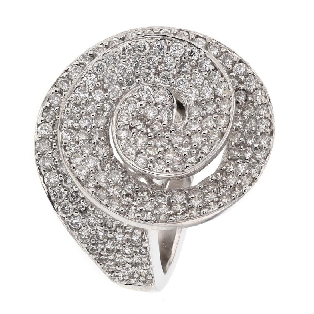 2.36 CTW Diamond Ring 18K White Gold - REF-225Y5X - 2
