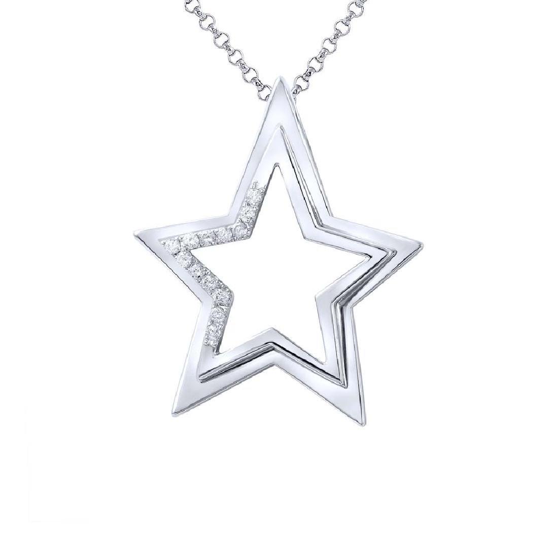 0.23 CTW Diamond Necklace 14K White Gold - REF-56W5H