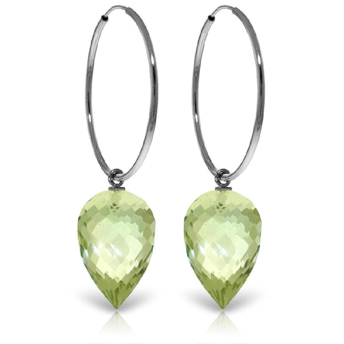 Genuine 19 ctw Amethyst Earrings Jewelry 14KT White