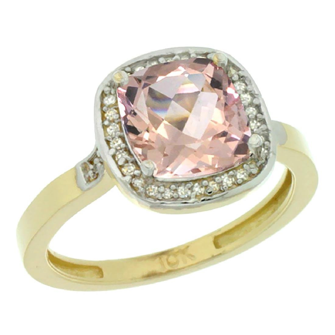 Natural 2.11 ctw Morganite & Diamond Engagement Ring