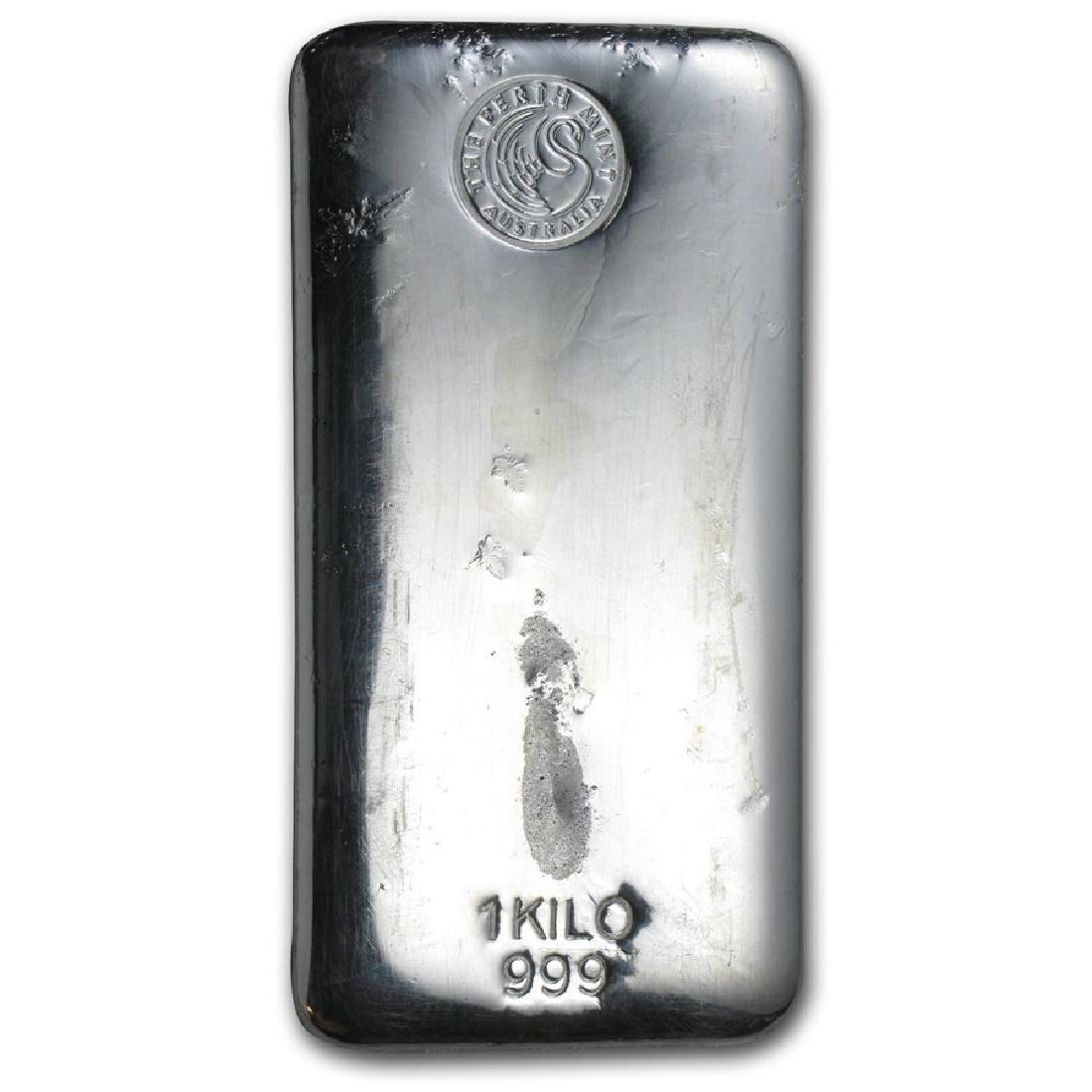 Genuine 1 kilo 0.999 Fine Silver Bar - Perth Mint - 2