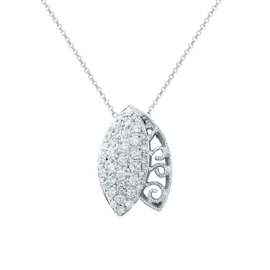 0.78 CTW Diamond Necklace 14K White Gold - REF-55Y2X