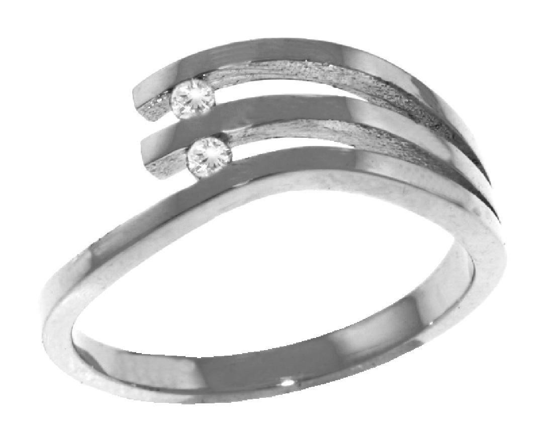 Genuine 0.06 ctw Diamond Anniversary Ring Jewelry 14KT