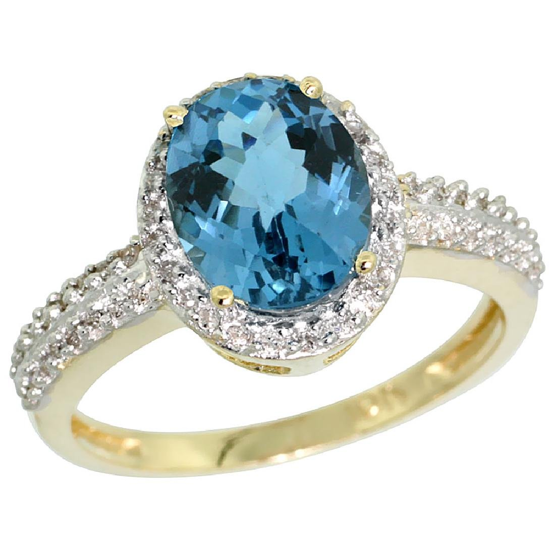 Natural 1.91 ctw London-blue-topaz & Diamond Engagement