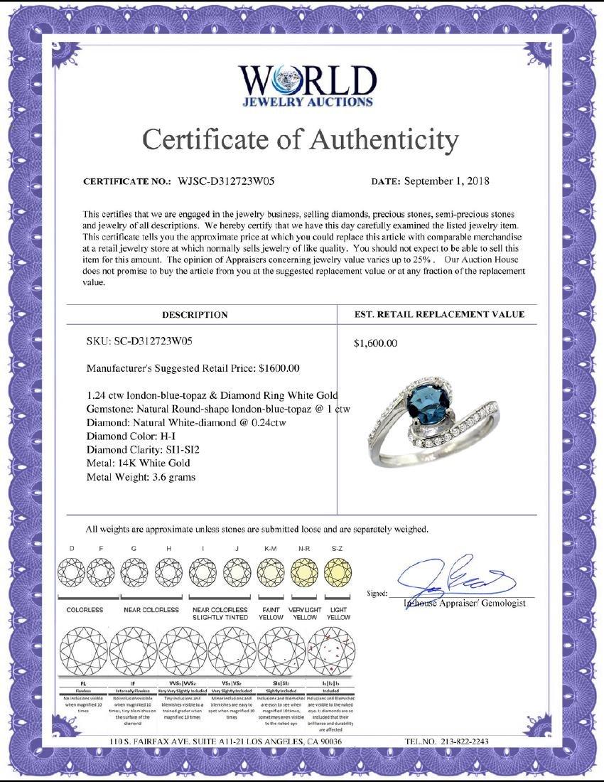 Natural 1.24 ctw london-blue-topaz & Diamond Engagement - 2