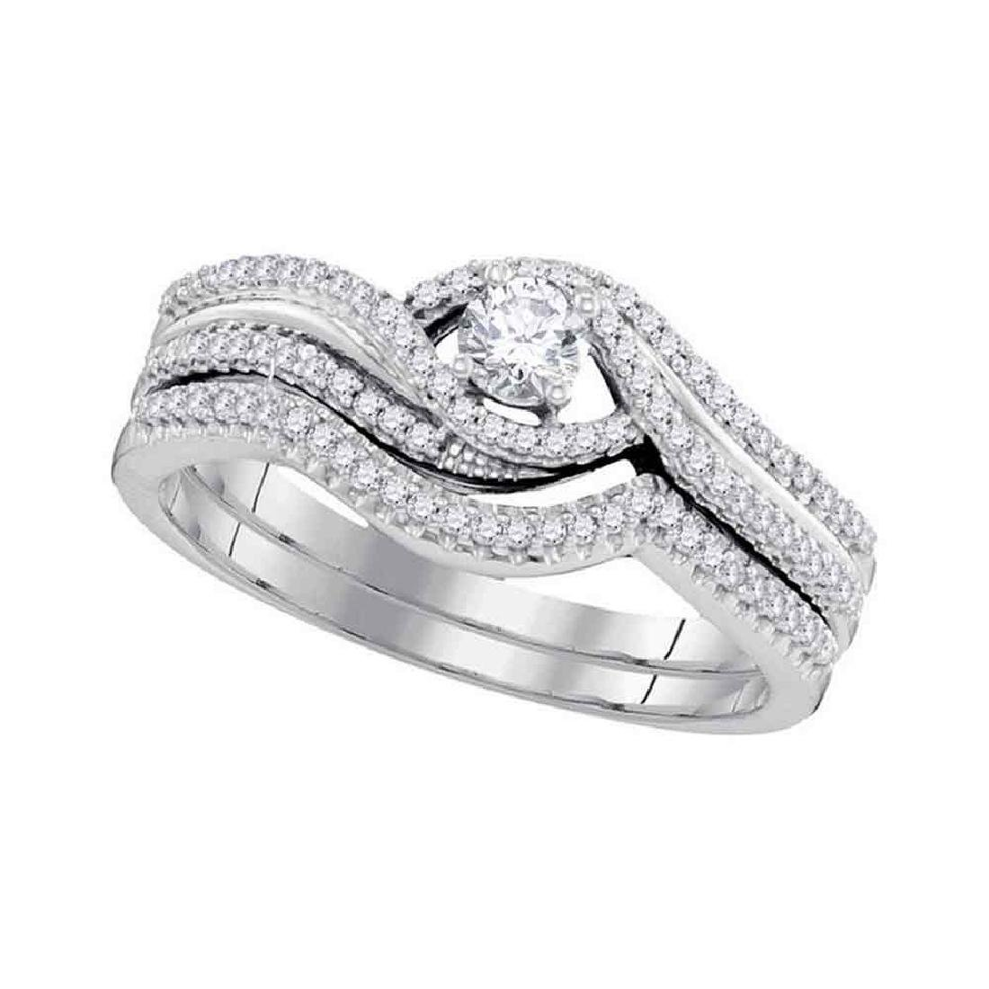 0.38 CTW Diamond Bridal Wedding Engagement Ring 10KT
