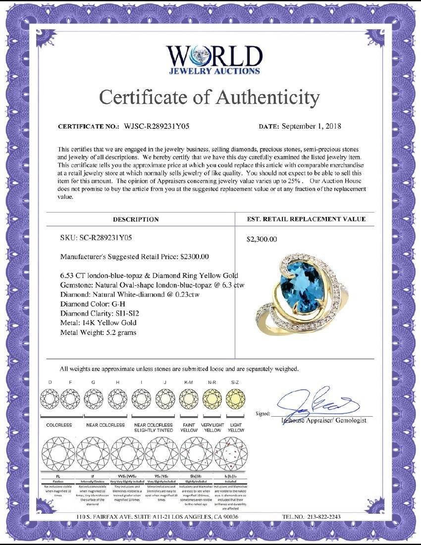 Natural 6.53 ctw london-blue-topaz & Diamond Engagement - 2