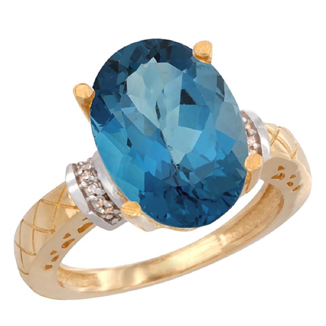 Natural 5.53 ctw London-blue-topaz & Diamond Engagement