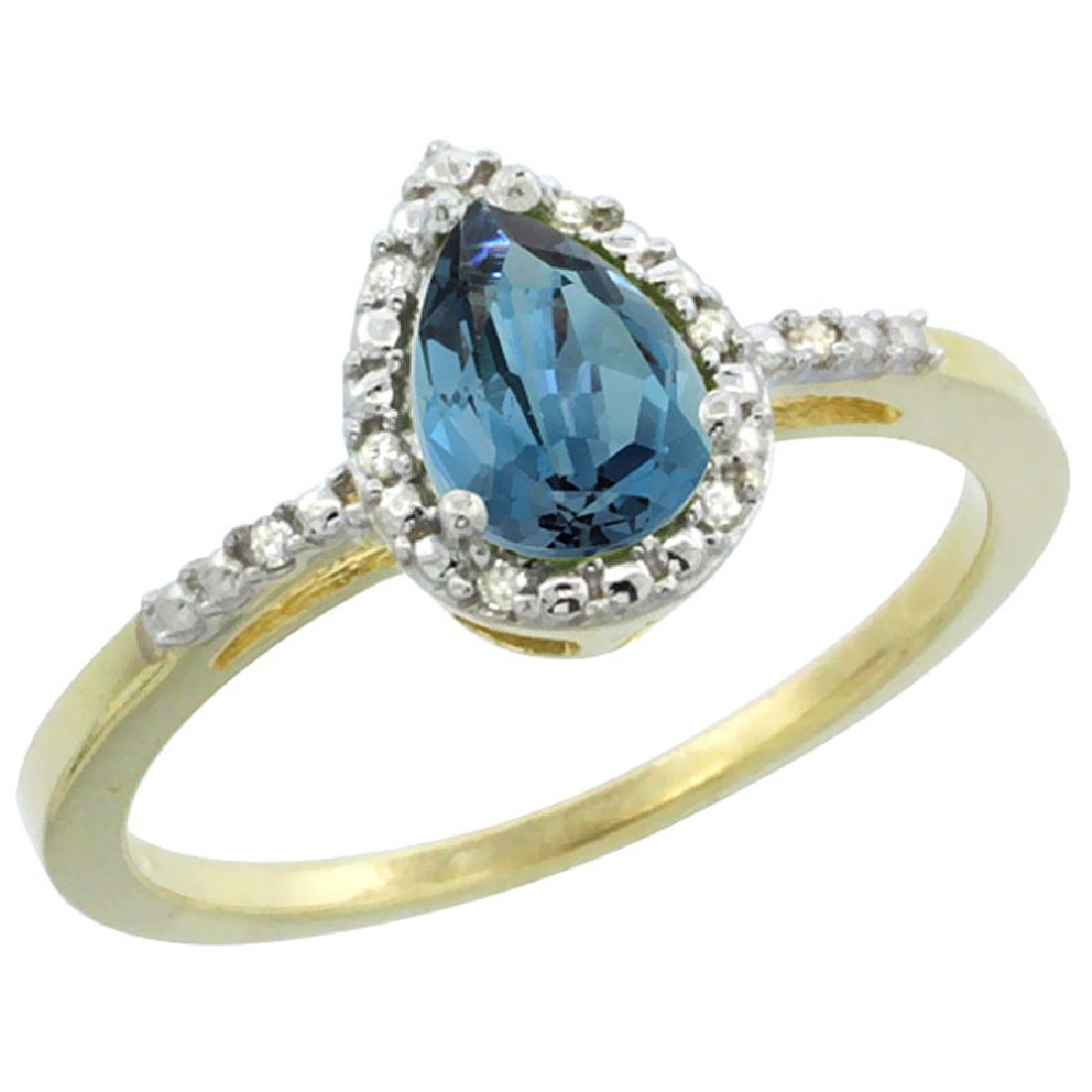 Natural 1.53 ctw london-blue-topaz & Diamond Engagement