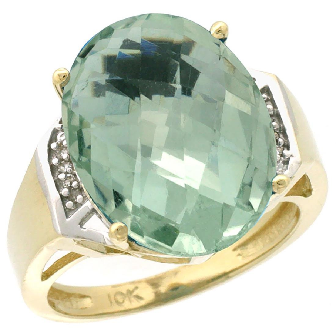 Natural 11.02 ctw Green-amethyst & Diamond Engagement