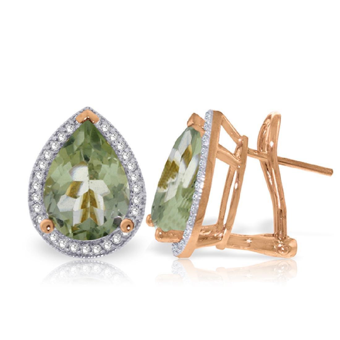 Genuine 6.82 ctw Amethyst & Diamond Earrings Jewelry