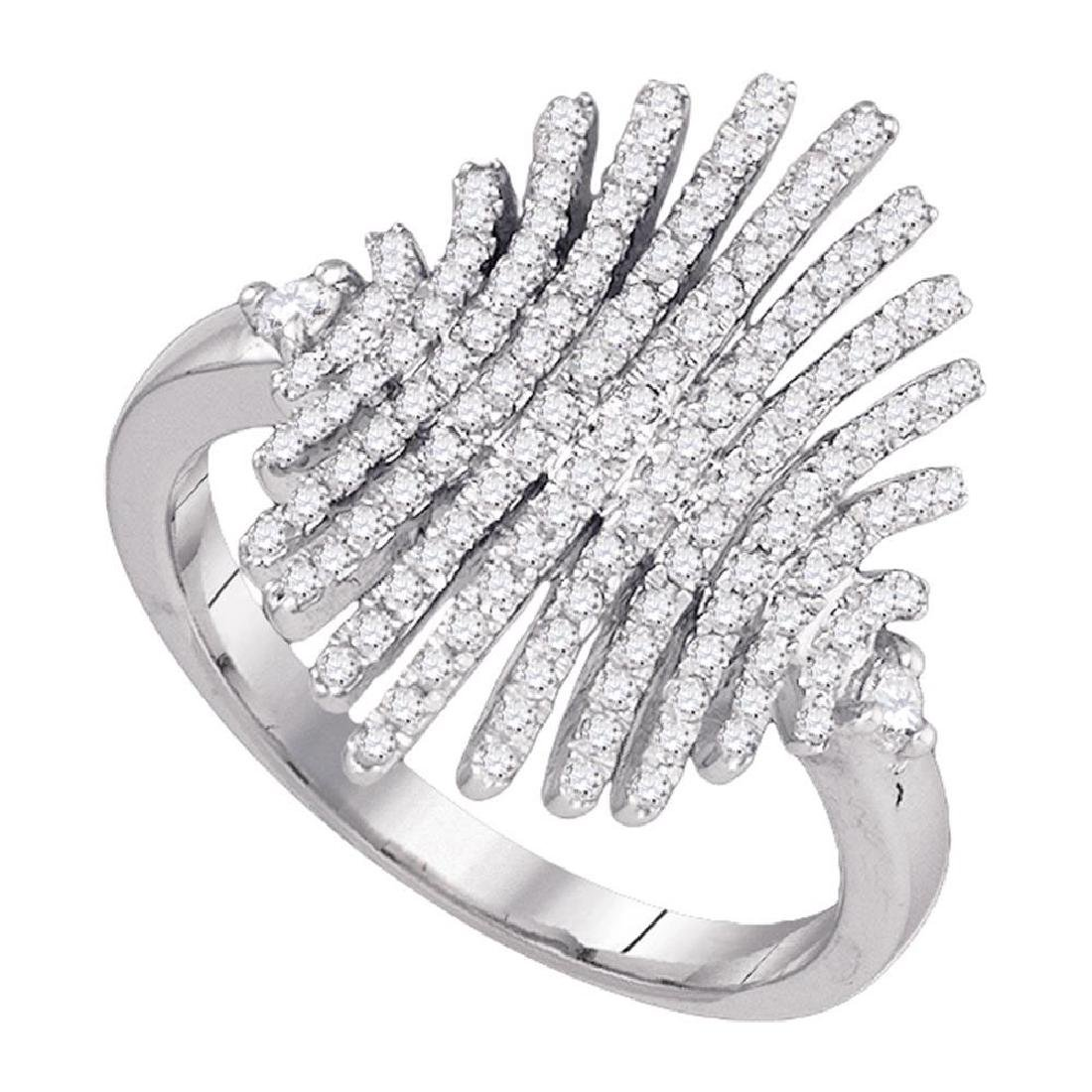 0.52 CTW Pave-set Diamond Wide Luxury Cocktail Ring