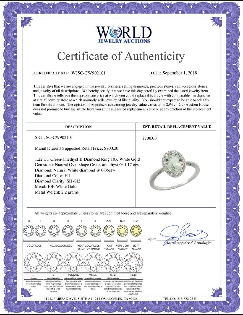 Natural 1.22 ctw Green-amethyst & Diamond Engagement - 2