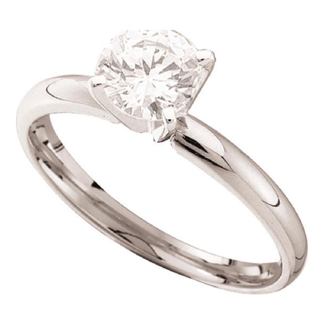 0.70 CTW Diamond Solitaire Bridal Engagement Ring 14KT