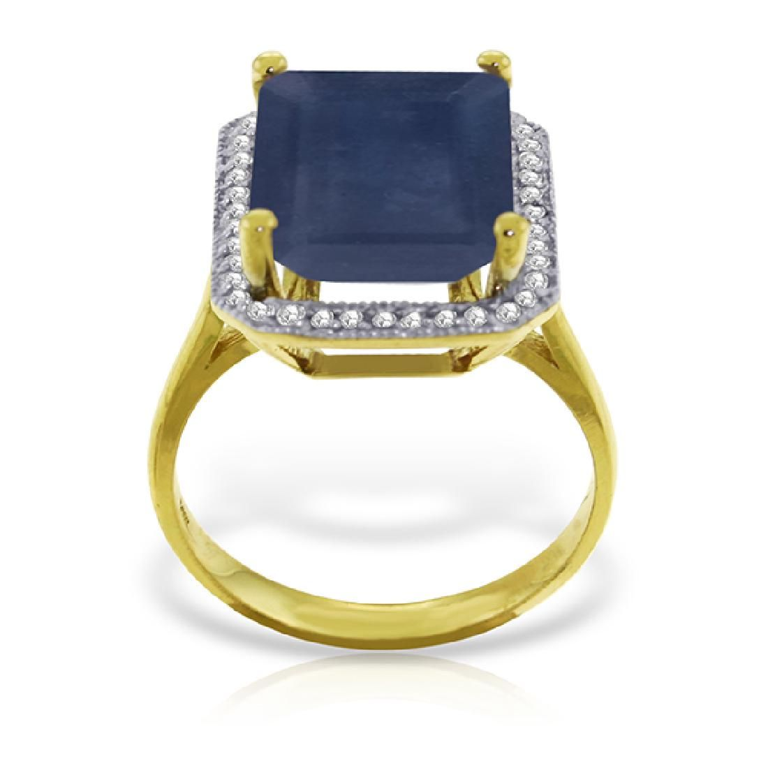 Genuine 6.6 ctw Sapphire & Diamond Ring Jewelry 14KT