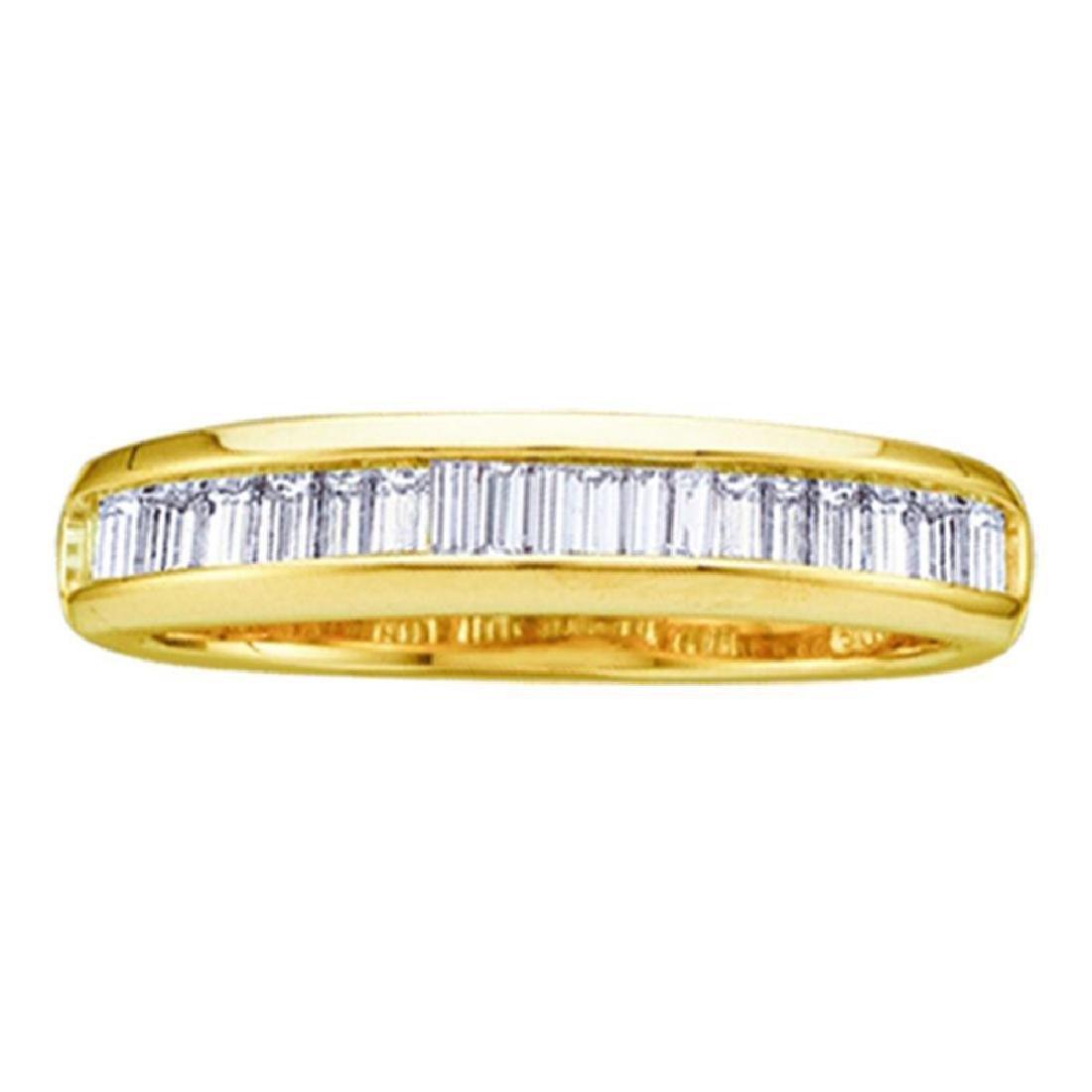 0.15 CTW Diamond Wedding Anniversary Ring 10KT Yellow