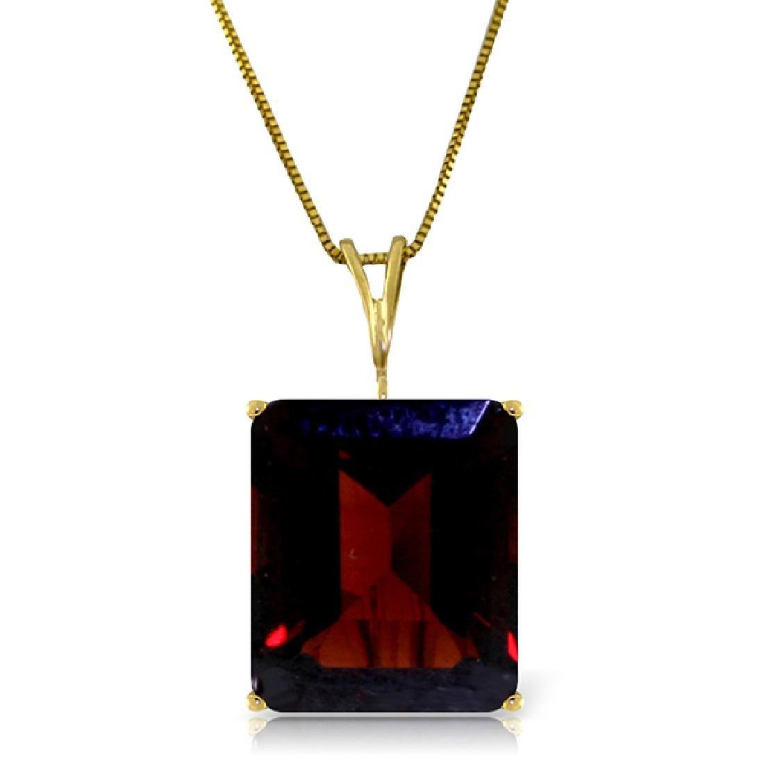 Genuine 7 ctw Garnet Necklace Jewelry 14KT Yellow Gold