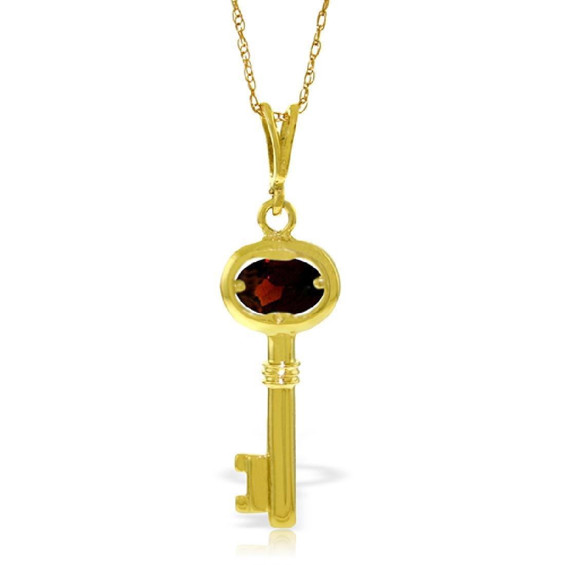 Genuine 0.50 ctw Garnet Necklace Jewelry 14KT Yellow