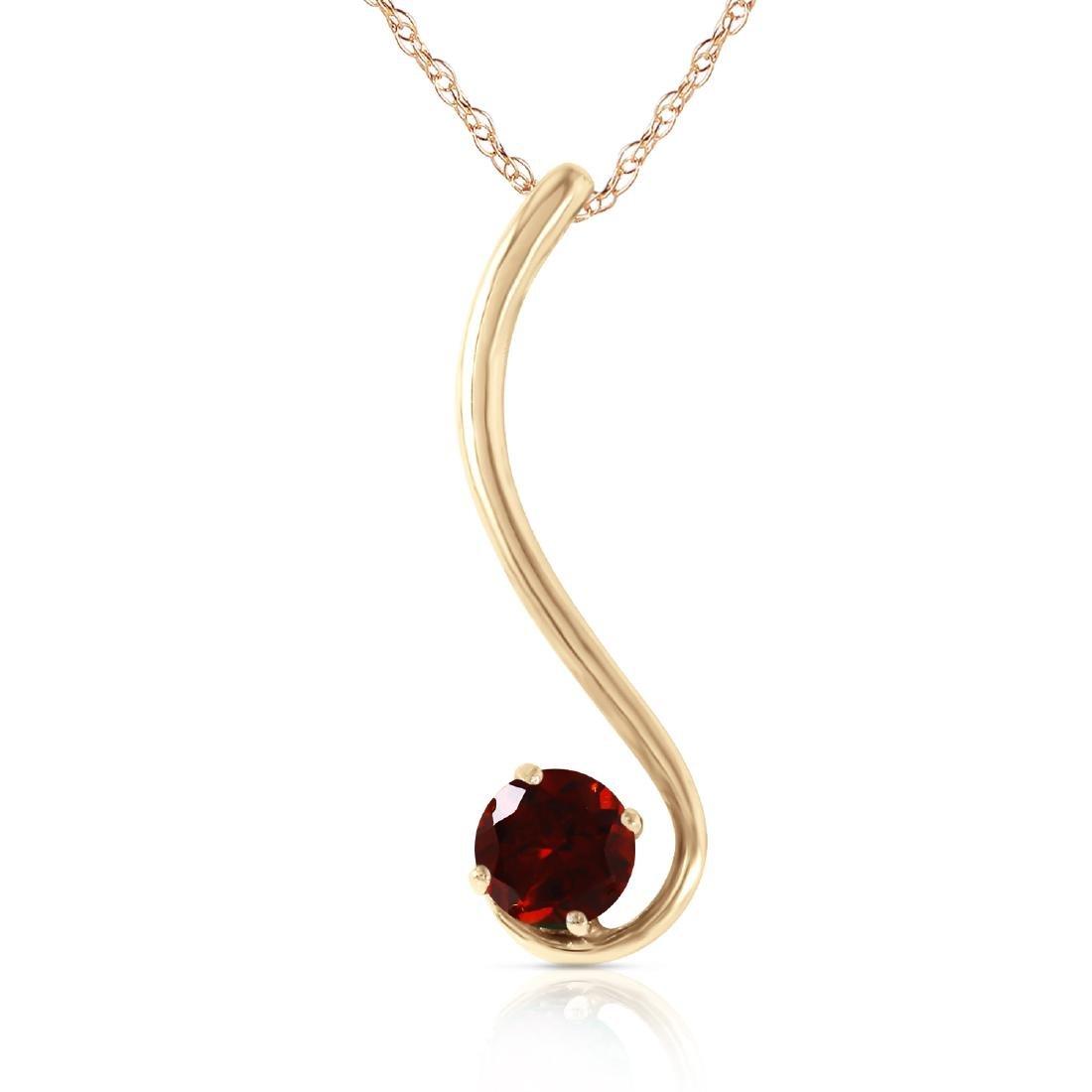Genuine 0.55 ctw Garnet Necklace Jewelry 14KT Yellow