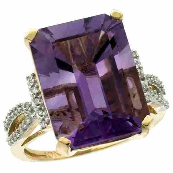 Natural 1214 ctw amethyst Diamond Engagement Ring