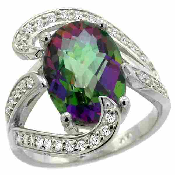 Natural 622 ctw mystictopaz Diamond Engagement Ring