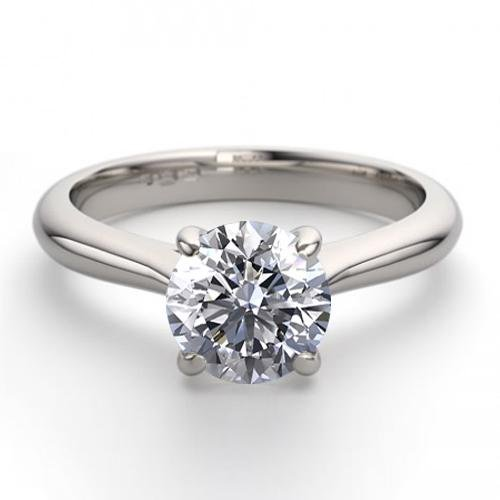 14K White Gold 1.13 ctw Natural Diamond Solitaire Ring